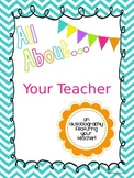 All About Your Teacher Editable Book