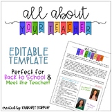 All About Your Teacher - Editable Template