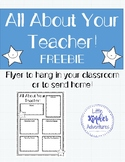All About Your Teacher Flyer FREEBIE