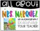 All About Your Teacher Slideshow {Editable}
