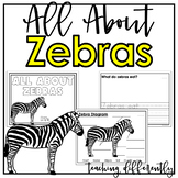 All About Zebras {Differentiated Informational Text Writing}