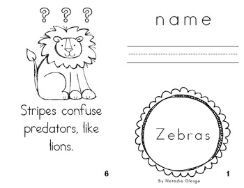 All About Zebras- Informational Easy Reader for Letter Z