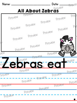 All About Zebras: Writing Templates