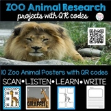 All About Zoo Animals Research Project-with QR codes