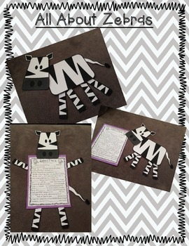 All About Zoo Animals-ZEBRAS! (crafts, informative text, vocab, & much more!)