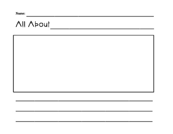 All About ___ Writing Template