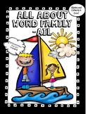 All About -ail Word Family Words! No Prep! Word Work!