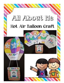 All About me Hot Air Balloon Craft