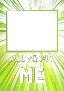 All About me - cartoon booklet