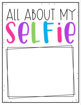 All About my Selfie (Digital & Paper)