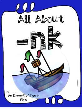 All About nk - Word Work and Lesson Plans for nk