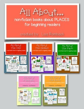 All About... places non fiction books for beginning readers BUNDLE