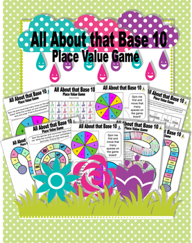 All About that Base 10 Place Value Board Game