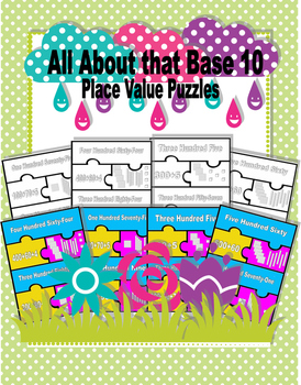 All About that Base 10 Place Value Puzzles