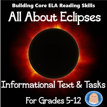 """Eclipse 2017: FREE Informational Text Passage (1 page) """"All About the Eclipse"""""""