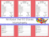 All About the 50 States Fill in the Answer Worksheets. 2nd