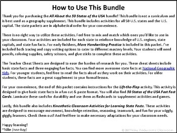 All About the 50 States of the USA | Activities & Worksheets | MEGA Bundle