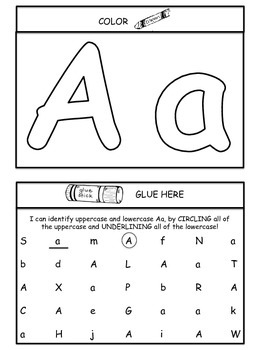All About the ABC's Interactive Notebook Sample