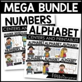 Alphabet Practice and Numbers Practice Centers and Printab