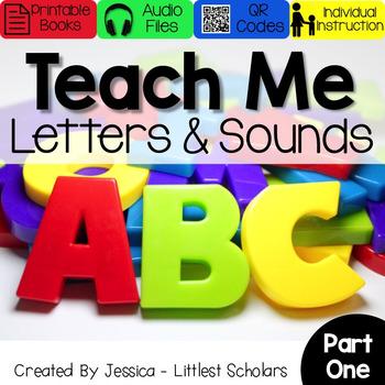 Teach Me Letters and Sounds Bundle Part 1 [Audio & Interactive Printable Book]
