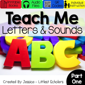 Teach Me Letters and Sounds Bundle Part 1 [Audio & Interactive Printable Book]