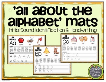 All About the Alphabet Letter Mats