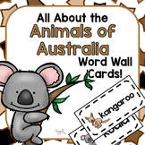All About the Animals of Australia Word Wall Picture Cards
