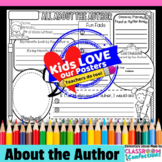 """All About the Author"" Author Study Activity Poster"