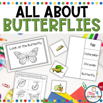 All About the Butterfly: An Emergent Reader, sequencing activity, mobile and more. This is a packet for teaching the life cycle of the butterfly.