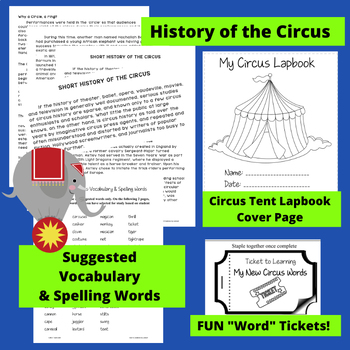 All About the Circus - A Lapbook Unit (1st-3rd Grade)