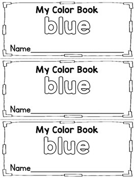 Color Blue Activities