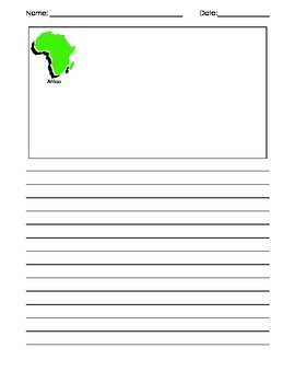 All About the Continents: Fact Template Sheet and Writing Papers