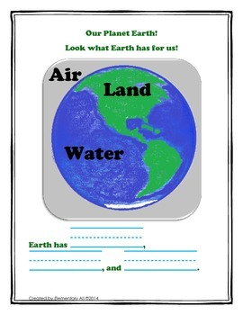 All About the Earth: Kindergarten Science Interactive Notebook Activity