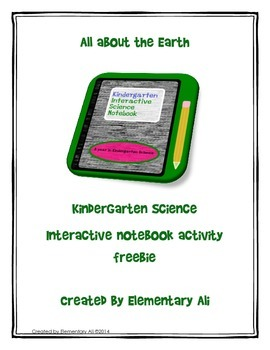 All About the Earth: Kindergarten Science Interactive Note