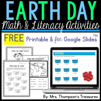 Free Earth Day Worksheets Resources Lesson Plans