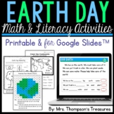 Earth Day Math & Literacy Activities - Printable & Digital