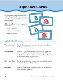 All About the Farm: Alphabet Cards