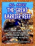 All About the Great Barrier Reef - Nonfiction Reading Comprehension & Activities