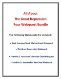All About the Great Depression Webquest Bundle (w/ Answer Keys!)