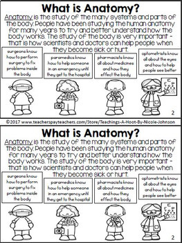 All About the Human Body mini-book