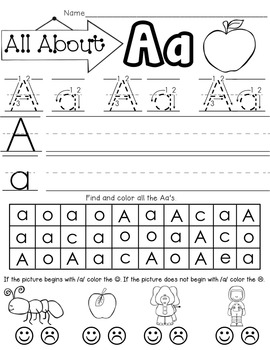 All About the Letter A!