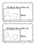 All About the Letter A, B, C, D, E, F, G Booklets