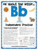 All About the Letter B Independent Practice - Letter of the Week