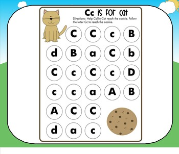 All About the Letter C (Letter of the Week SMARTBoard Activities)
