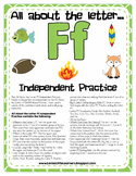 All About the Letter F Independent Practice - Letter of the Week