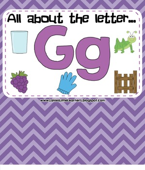 All About the Letter G - Letter of the Week SMARTBoard Act