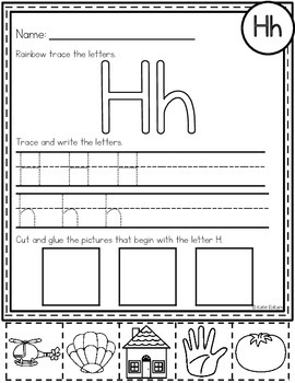 Letter H Activities