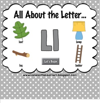All About the Letter Ll {Letter of the Week SMARTboard Act