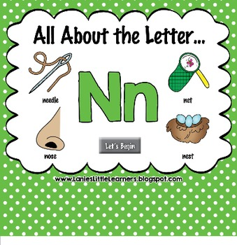 All About the Letter Nn {Letter of the Week SMARTboard Act