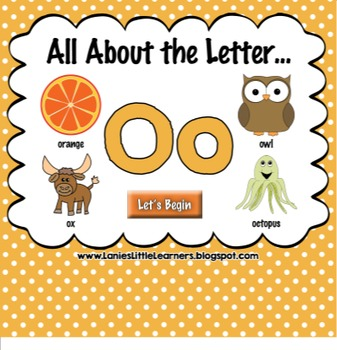 All About the Letter Oo {Letter of the Week SMARTboard Act